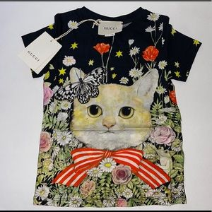 Authentic Gucci children's cat kitty shirt size 5
